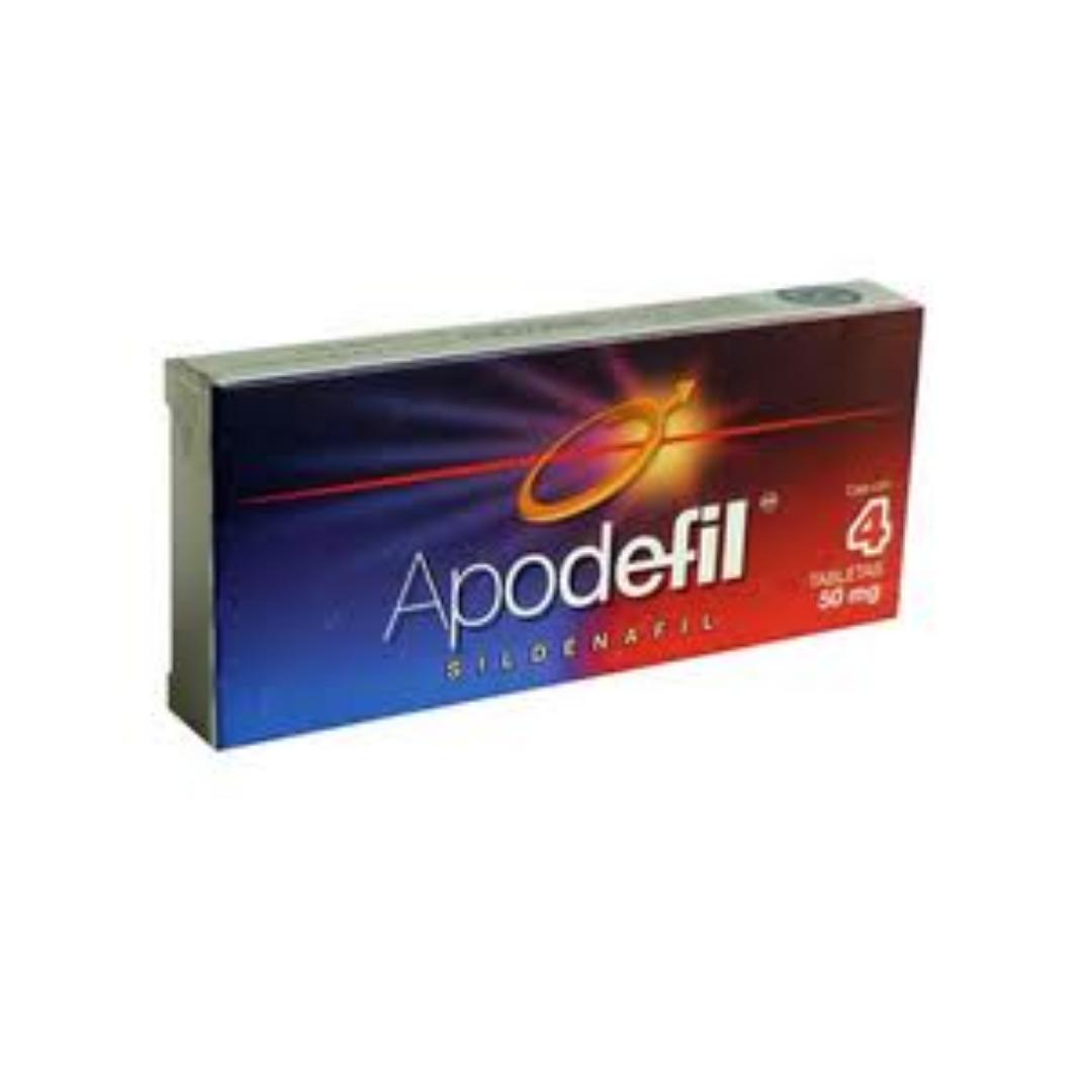 Apodefil 50Mg C/4 Tab